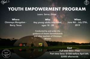 Youth Empowerment Program @ Chinmaya Managalam