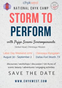 National CHYK Camp - Storm to Perform @ Chinmaya Mangalam
