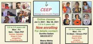 Chinmaya Early Education Program 2.5 to 5 year Olds